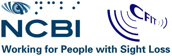 Combined Centre for Inclusive Technology (CFIT) and National Council for the Blind Ireland (NCBI) logos.