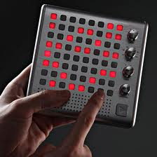 bliptronic 5000. a square electronic instrument that is programed by pressing buttons on an 8 by 8 matrix